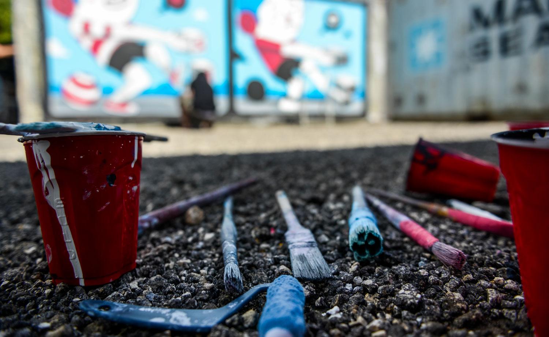 Street art for mankind SAM enfants street-art graffeurs agence community culture société territoire ingénierie culturelle