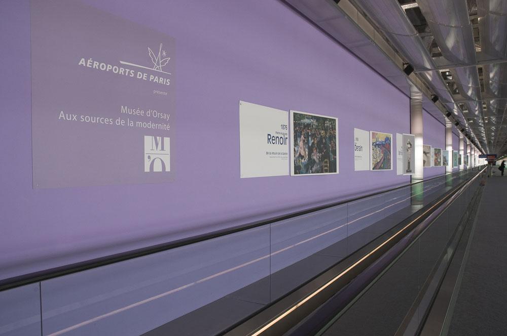 Aéroports de Paris Orly Roissy Charles de Gaulle exposition bâches agence community culture société territoire ingénierie culturelle